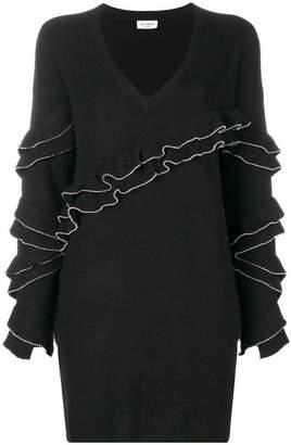 Twin-Set ruffled knitted dress