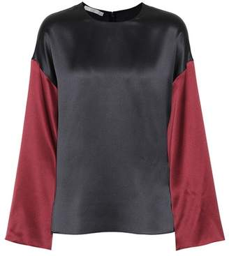 Vince Two-tone silk top