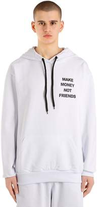 Logo Print Cotton Sweatshirt Hoodie