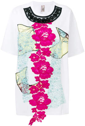 Antonio Marras floral appliquéd T-shirt
