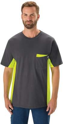 Men's Red Kap Colorblock Visibility Workwear Tee