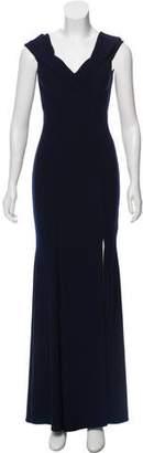 Aqua Strapless Evening Dress