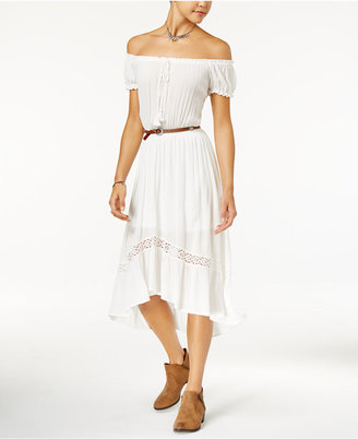 American Rag Printed Off-The-Shoulder Peasant Dress, Created for Macy's $69.50 thestylecure.com