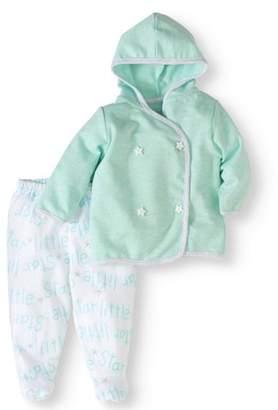 Rene Rofe Newborn Baby Boy or Girl Unisex Cardigan 2pc Set