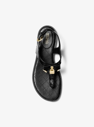 MICHAEL Michael Kors Alice Patent Leather Sandal