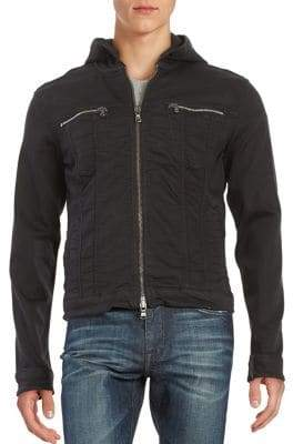 John Varvatos Hooded Jean Jacket