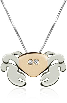 Forzieri Diamond 18K Gold Crab Pendant Necklace