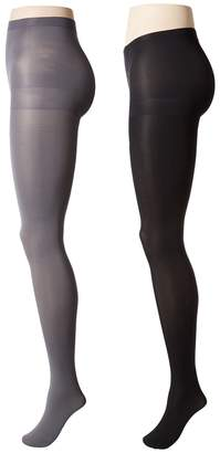 Calvin Klein Opaque Tights with Control Top 2-Pair Pack Hose