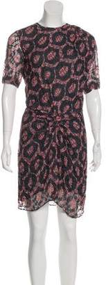 Isabel Marant Perforated Silk-Blend Dress