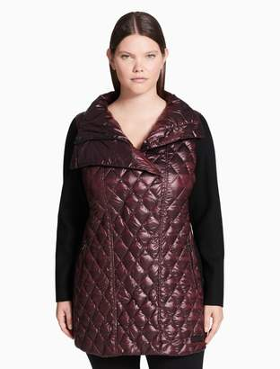Calvin Klein plus size down asymmetrical walker jacket