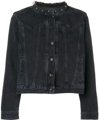 7 For All Mankind collarless denim jacket