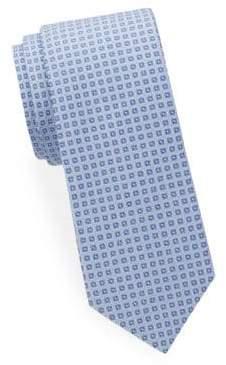 Saks Fifth Avenue Geometric Print Silk Tie