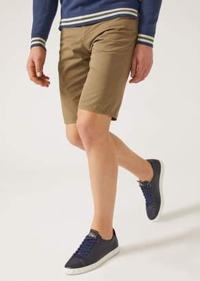 Emporio Armani Cotton Gabardine Bermuda Shorts