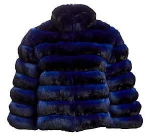 28bf7668354 The Fur Salon Women's Rome Cropped Chinchilla Fur Jacket