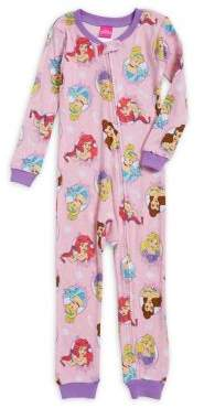 AME Sleepwear Little Girl's Princess Cotton Bodysuit Pajamas