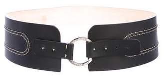 Adrienne Vittadini Leather Oversize Waist Belt