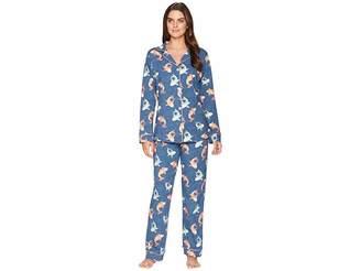BedHead Long Sleeve Classic Knit Two-Piece Pajama Set