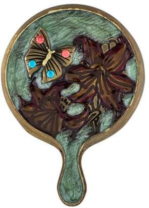 Jay Strongwater Embellished Purse Mirror