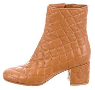 Gianvito Rossi Quilted Leather Ankle Boots