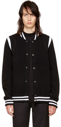 Givenchy Black Knit Teddy Jacket $1,450 thestylecure.com