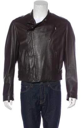Armani Collezioni Leather Moto Jacket
