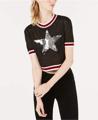 Starter Sequin-Graphic Crop Top