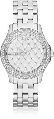 Armani Exchange Lady Hampton Stainless Steel Women's Watch
