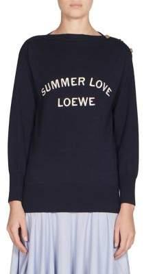 Loewe Wool Boatneck Logo Sweater