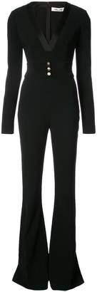 Diane von Furstenberg belted plunge jumpsuit