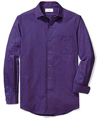 Buttoned Down Men's Classic Fit Supima Cotton Spread-Collar Textured Dress Casual Shirt