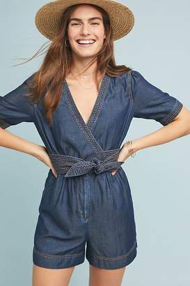 b17f6fb6f4 Pilcro And The Letterpress Pilcro Belted Denim Playsuit