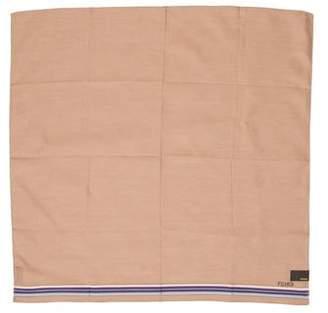 Fendi Logo-Embroidered Woven Handkerchief