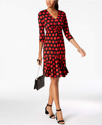 INC International Concepts I.n.c. Polka Dot Ruffled-Hem Dress, Created for Macy's