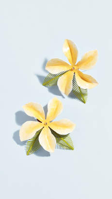 Jennifer Behr Chroma Hibiscis Clip On Earrings