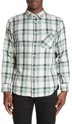 Rag & Bone Plaid Woven Trim Fit Shirt