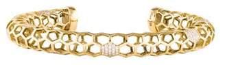 Melissa Kaye 18K Diamond Honeycomb Cuff
