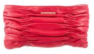 Michael Kors Michael Ruched Leather Clutch