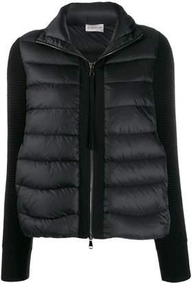 Moncler virgin wool sleeves zipped jacket