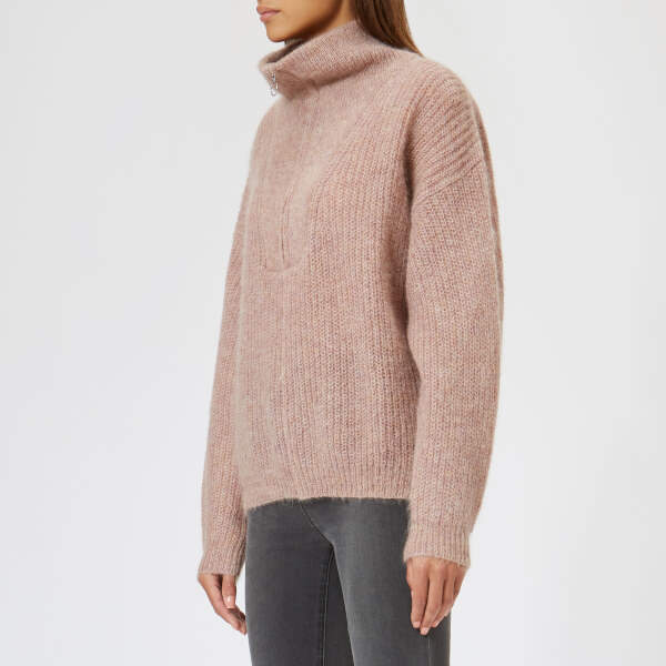 ÉTOILE Women's Cyclan Mohair Knitted Sweater Greyish Pink