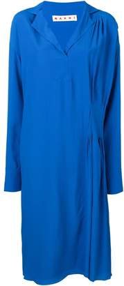 Marni micro-pleated detail dress