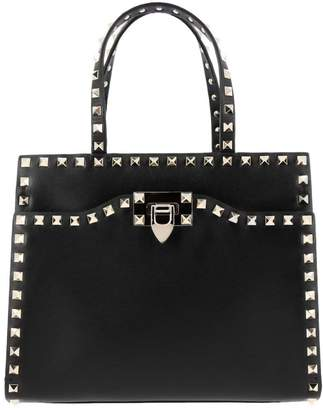 Valentino Garavani Handbag Rockstud Bag In Leather With Studs And Double Handles