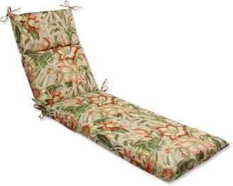 Botanical Glow Tiger Stripe Chaise Lounge Cushion