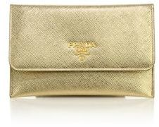 Prada Saffiano Leather Passport Holder & Card Case $345 thestylecure.com