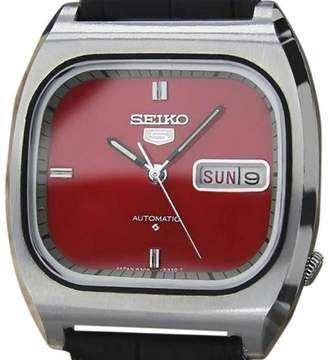 Seiko 5 6309 512A Stainless Steel & Leather Automatic Vintage 35mm Mens Watch 1970s