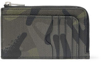 Alexander McQueen Camouflage-Print Full-Grain Leather Cardholder