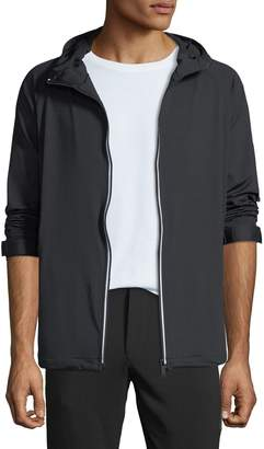 Karl Lagerfeld Paris Men's Reflective-Striped Track Jacket, Black
