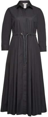 Max Mara Terra Cotton Midi Dress with Drawstring Waist