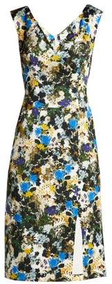 Erdem - Jyoti Mariko Meadow Jacquard Dress - Womens - Blue Print