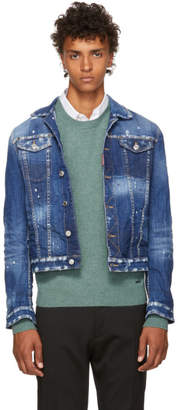 DSQUARED2 Blue Light Simple Denim Jacket