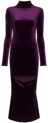 Marta Jakubowski cut out velvet midi dress